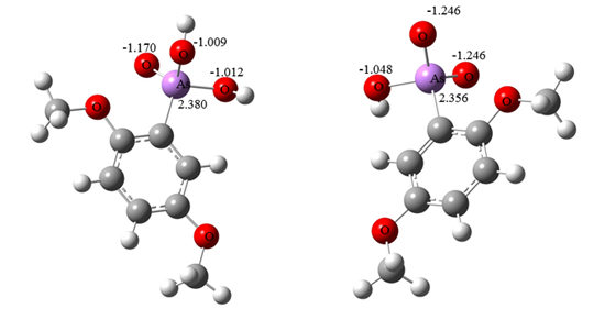 Theoretical calculations of the relative pKa values of some selected aromatic arsonic acids in water using density functional theory By B. Khalili and M. Rimaz (2016)